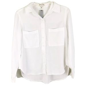 Cloth and Stone Anthropologie White Button Down
